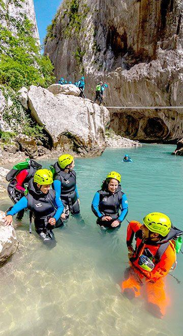 Canyoning découverte du Couloir Samson dans les gorges du Verdon avec ROCKSIDERS